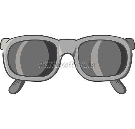 glasses icon black monochrome style