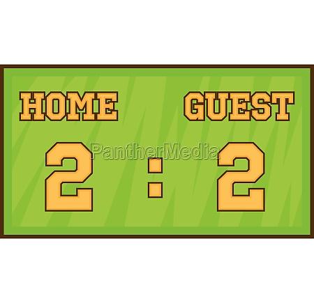 baseball score board icon cartoon style