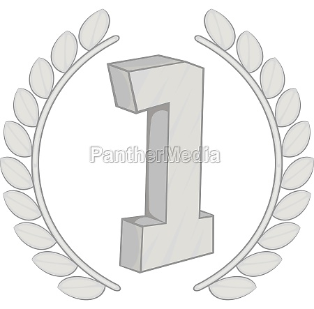 first number with laurel wreath icon
