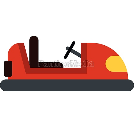 red bumper car icon flat style