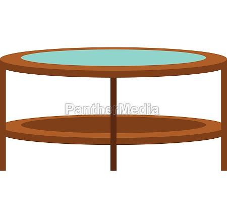 round trampoline icon flat style