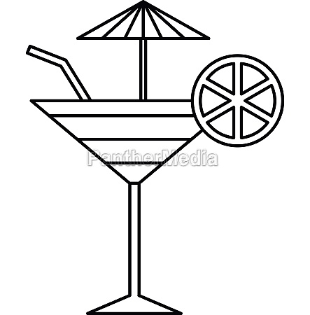 fruit cocktail icon outline style