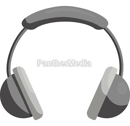 headphones icon black monochrome style