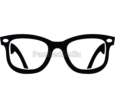 eyeglasses icon in simple style