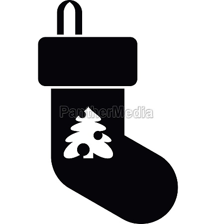 christmas sock icon simple style