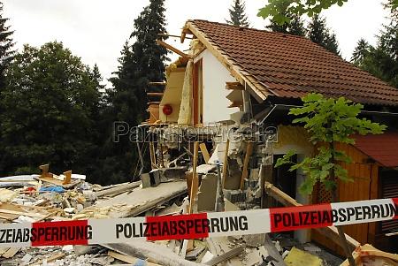 storm damage after a severe storm