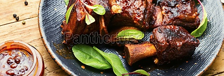 roasted beef brisket on the ribs
