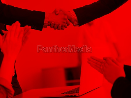 cloasing the deal in modern office