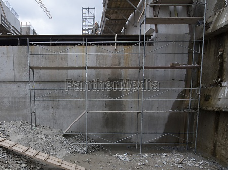 scaffolding for construction works on a