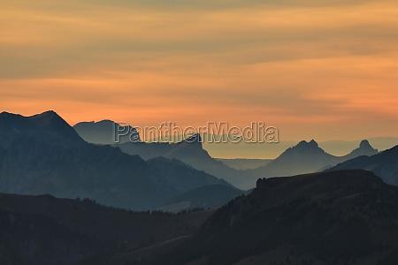 sunset view from mount niesen
