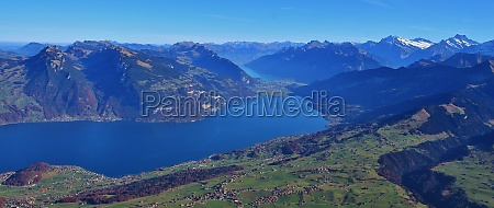 thunersee and mountains in the bernese