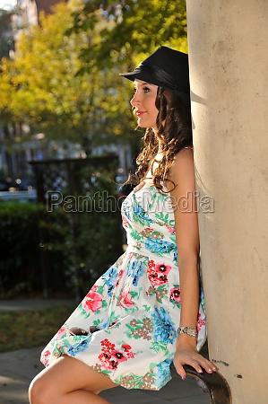 pretty girl in a summer dress