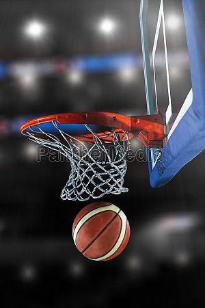 basketball ball and net