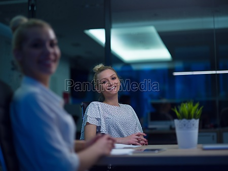 business team at a meeting at