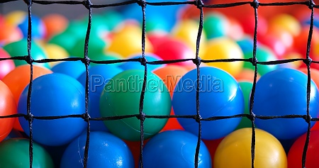 colorful plastic toy balls in the