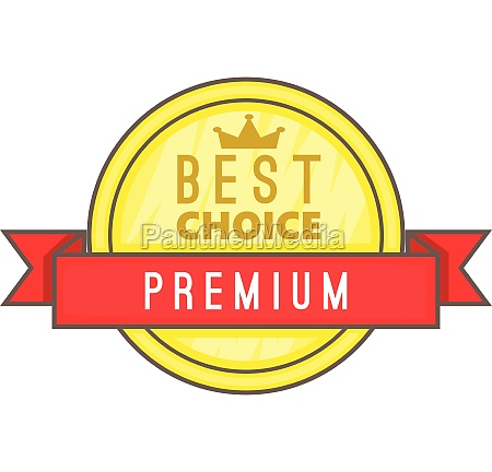 best choice label icon cartoon style
