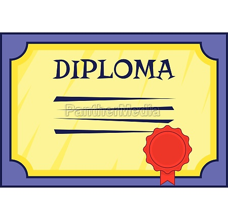 diploma icon cartoon style