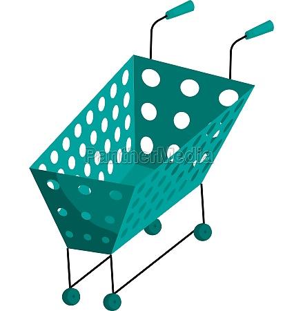 shopping cart icon cartoon style
