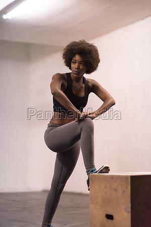 black woman are preparing for box