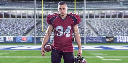 american football player isolated on big