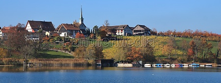 seegraben village on the shore of