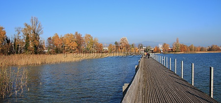 timber footbridge connecting rapperswil and hurden