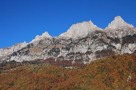 churfirsten in autumn