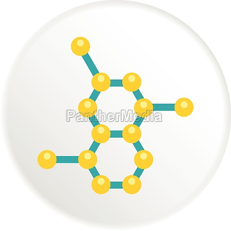 molecule structure icon flat style