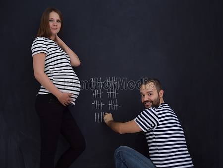 pregnant couple accounts week of pregnancy