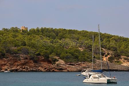 watchtower over portinatx on ibiza