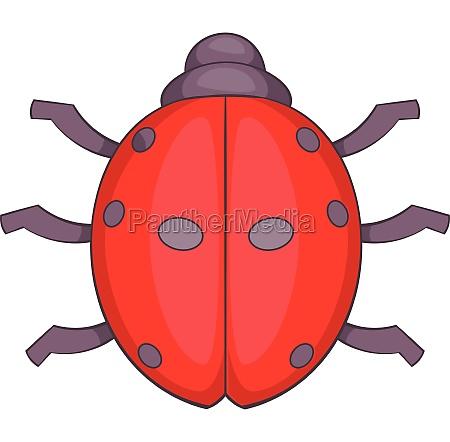 ladybug icon cartoon style