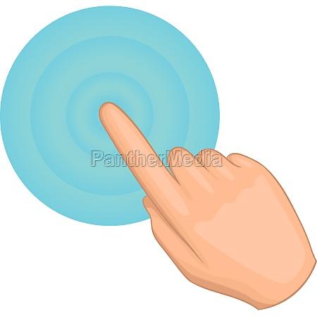 cursor hand click icon cartoon style