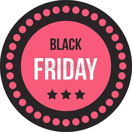 black friday sale sticker icon flat