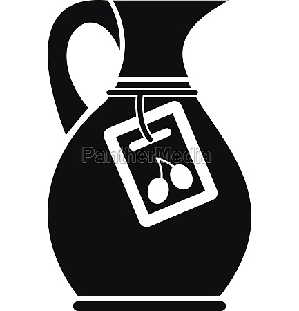 jug with olive oil icon simple