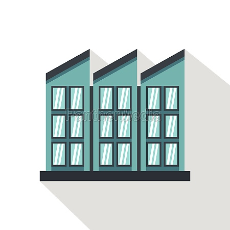 building icon flat style
