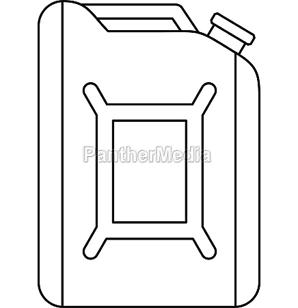 flask for gasoline icon outline style