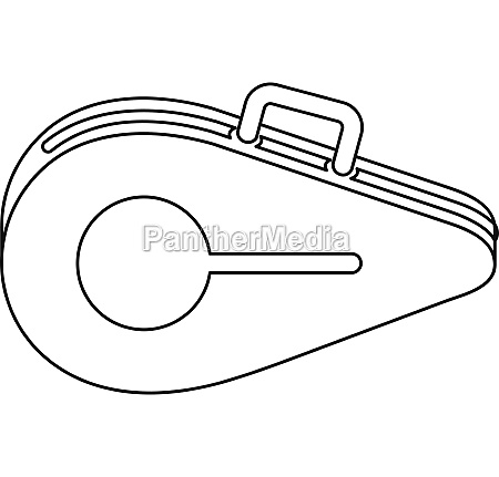 tennis bag icon outline style