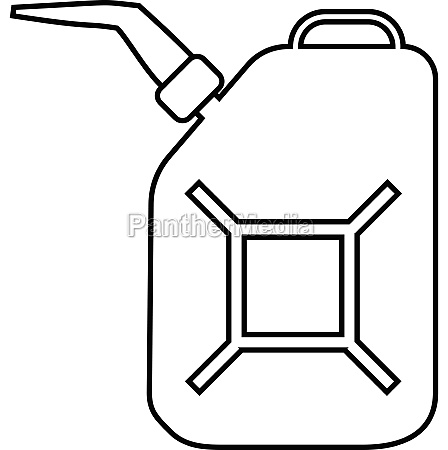 canister for gasoline icon outline style