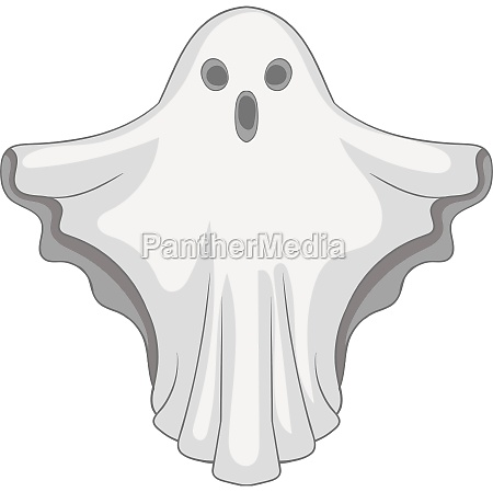 ghost icon gray monochrome style