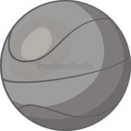 basketball icon gray monochrome style