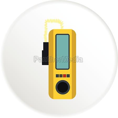 radio taxi icon flat style