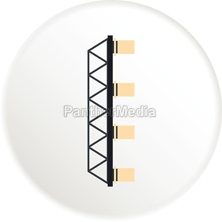 bridge with pillars icon flat style