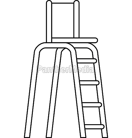 tennis tower for judges icon outline