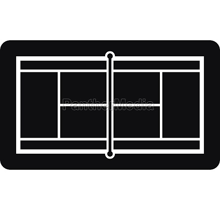 tennis court icon simple style