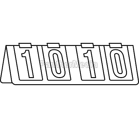 tennis scoreboard icon outline style