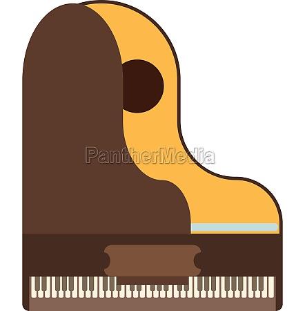grand piano icon flat style