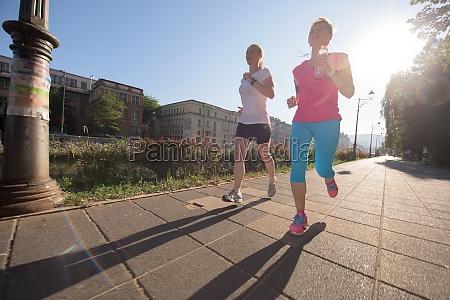 female friends jogging