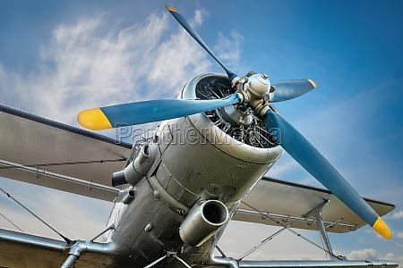 propeller of an historical aircraft