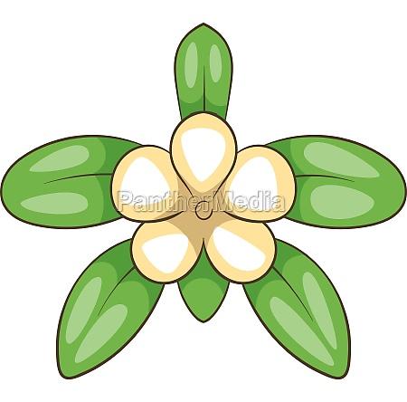 tropical flower icon cartoon style