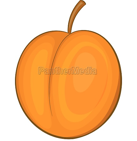 peach icon cartoon style